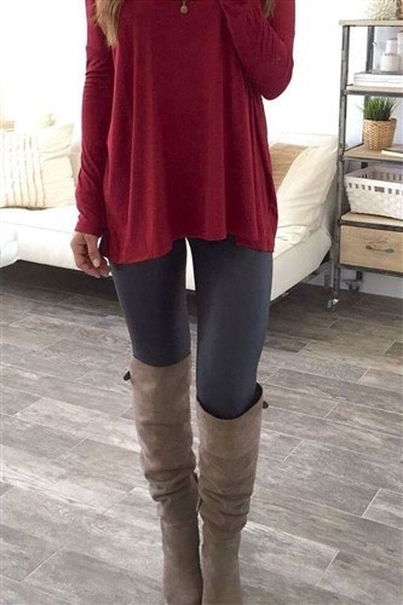 Dark-grey-knee-high-boot-and-black-legging