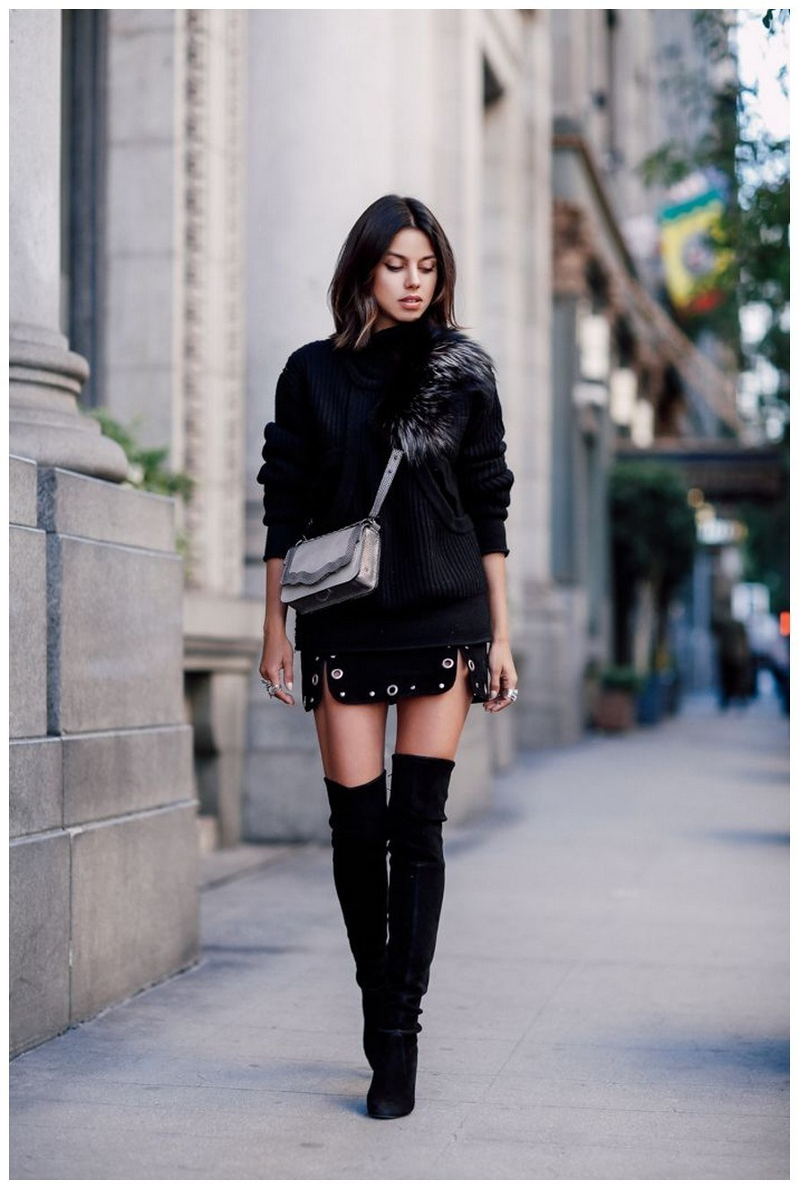 40+ ways to wear thigh high boots this winter 20