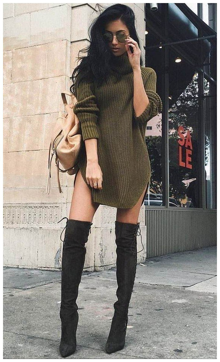 40+ ways to wear thigh high boots this winter 42