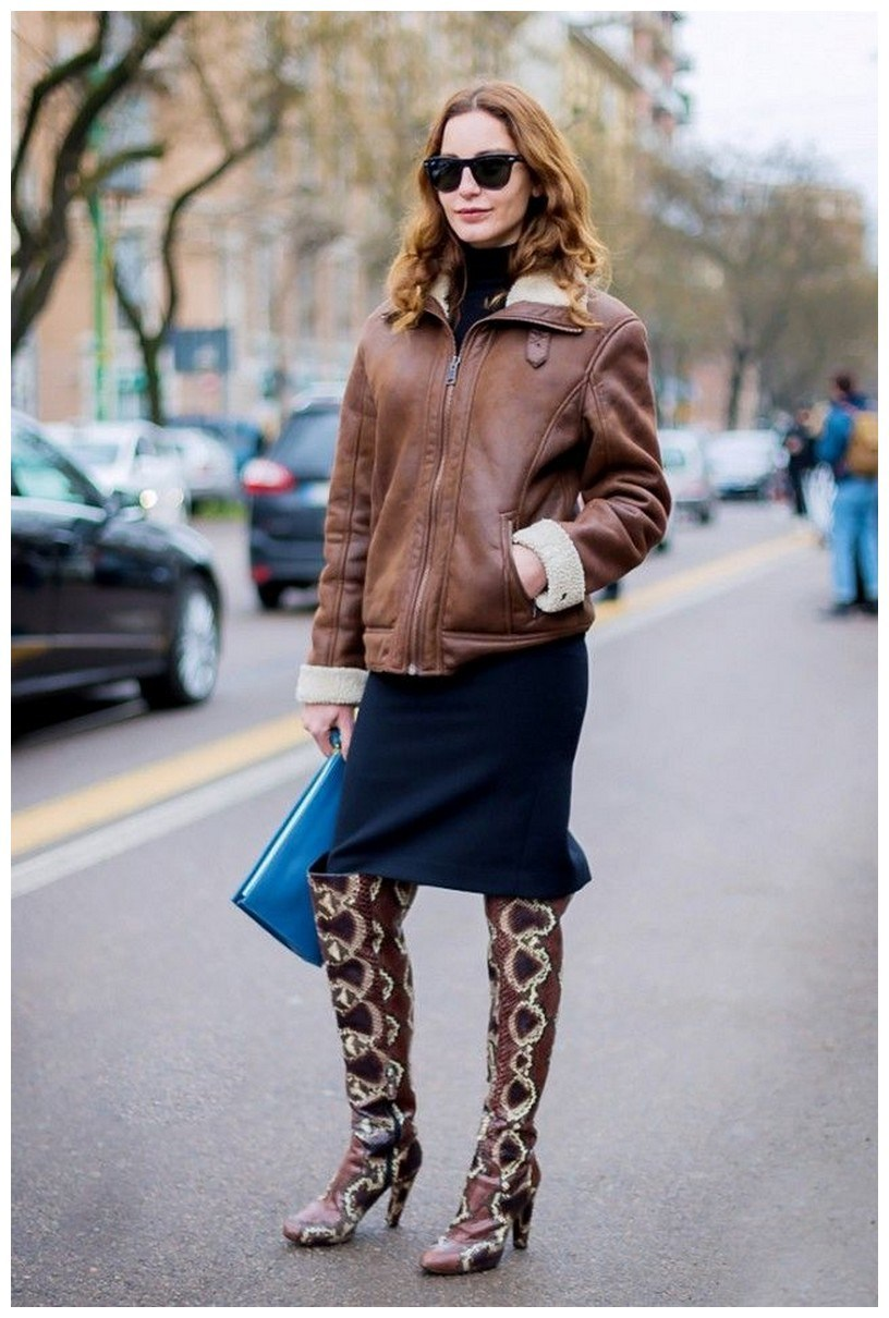 40+ ways to wear thigh high boots this winter 41