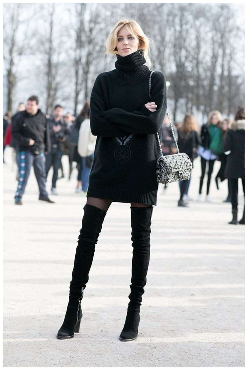 40+ ways to wear thigh high boots this winter 3