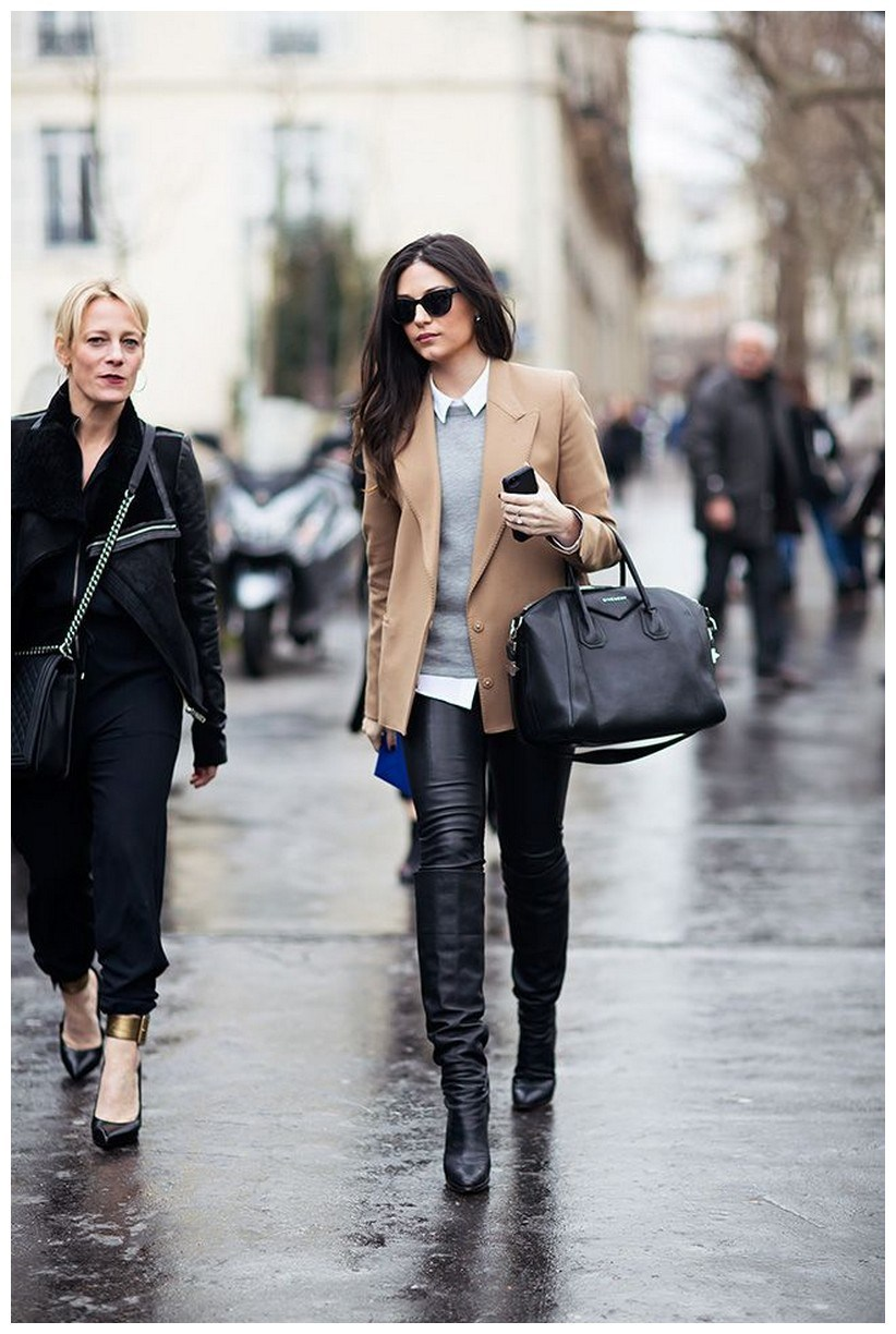 40+ ways to wear thigh high boots this winter 27
