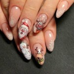 25 Fabulous Nail Art Design Ideas with Christmas Accent