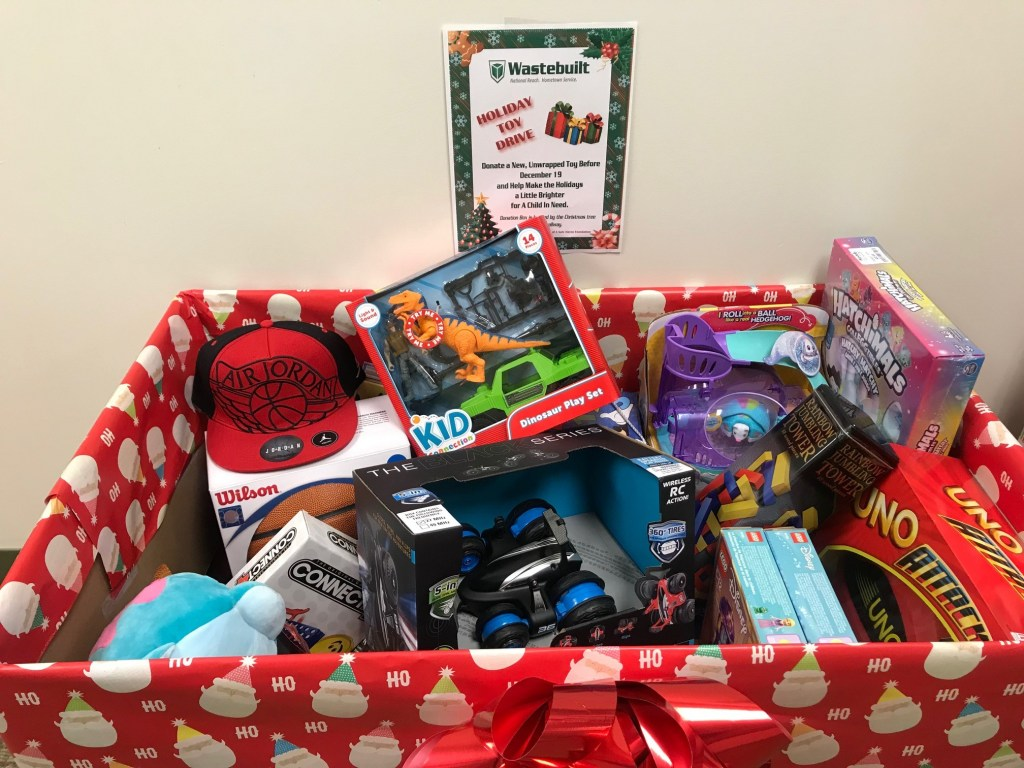 Wastebuilt Holiday Toy Drive Toy Bin