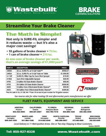Wastebuilt Brake Cleaning Solutions