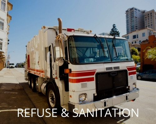 Mobile on-site hose service for refuse fleets