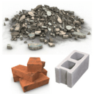 Recycling and reuse options for bricks, cinder blocks, rubble, etc.