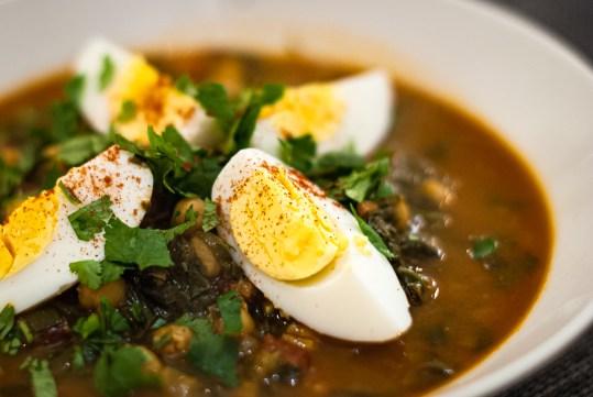 soep met spinazie kikkererwten en saffraan - 001