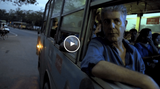 Eerste deel van Anthony Bourdain's Parts Unknown:  Myanmar