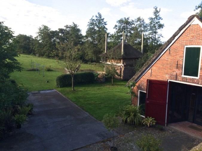 Uitzicht vanuit Bed and Breakfast Rikkerda in Lutjegast