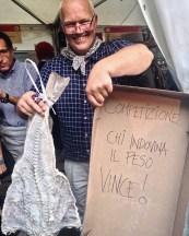 Salone del Gusto 2016: hoeveel weegt een stokvis?