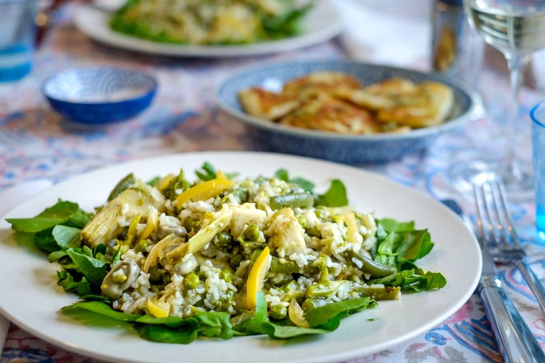Rijst met asperges en artisjokken van Ducasse