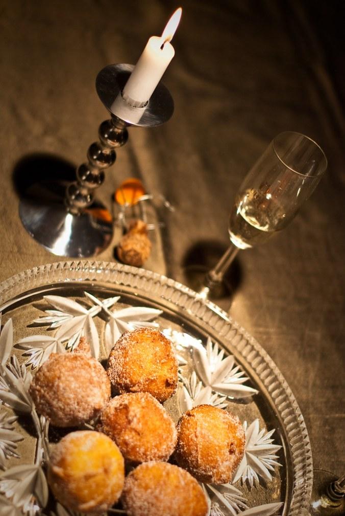 Silvesterparty: Quarkbällchen & Champagne