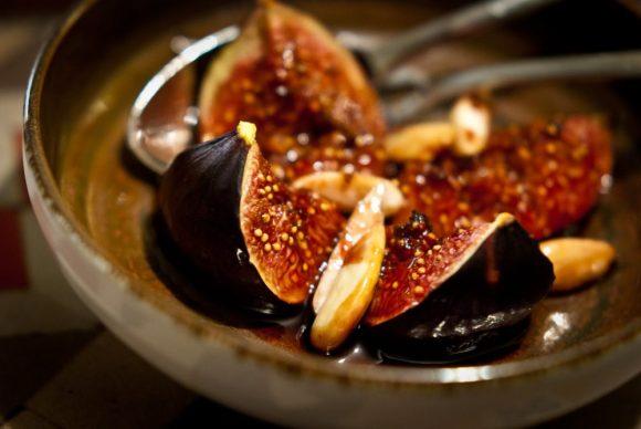 Geroosterde vijgen met citroen en honing