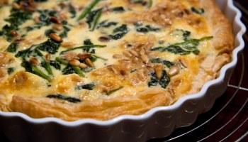 Quiche met spinazie en geitenkaas