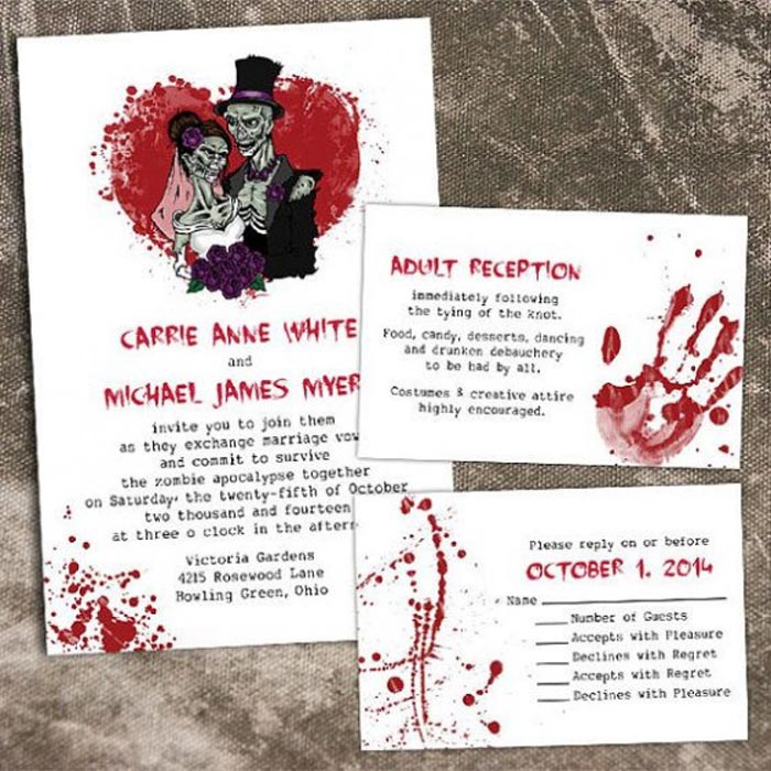 Printable Halloween Wedding Invitations Ideas And Inspiration