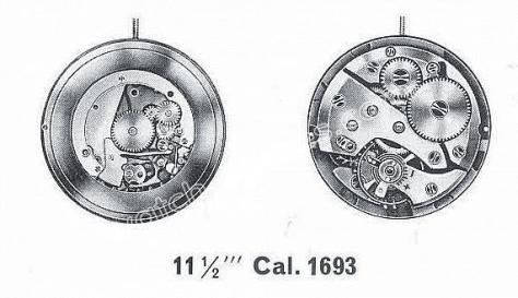 A Schild AS 1693 watch movement