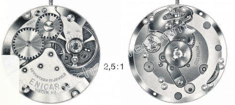 Enicar AR 850 watch movements