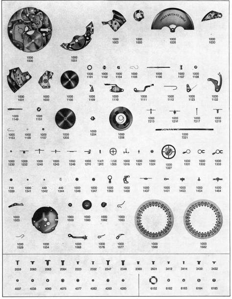 Omega 1001 watch parts