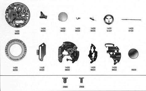 Omega 1422 watch date parts