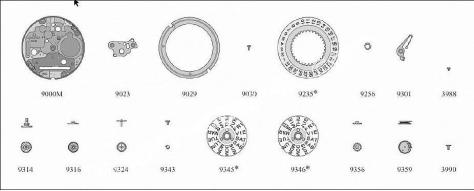 Omega 1435 watch date parts