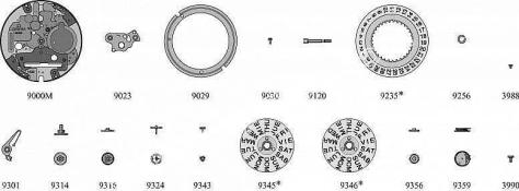 Omega 1437 watch date parts