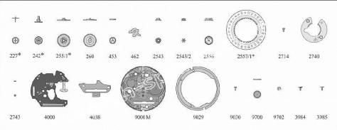 Omega 1438 watch date parts