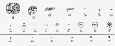 Omega 251 watch part