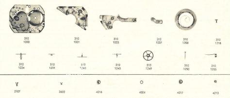Omega 310 watch spares