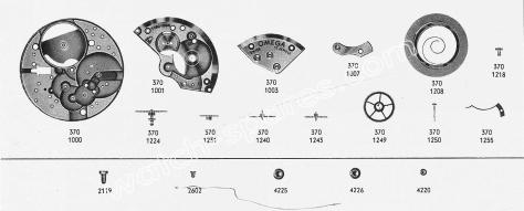 Omega 370 watch spare parts