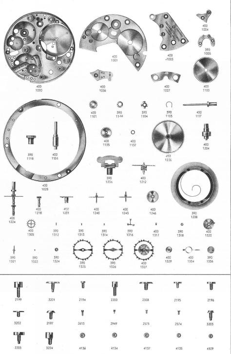 Omega 400 watch parts