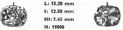 Omega 481 watch movements