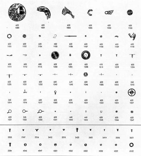 Omega 620 watch parts