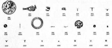 Omega 682 watch date parts