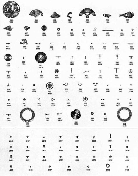 Omega 684 watch parts