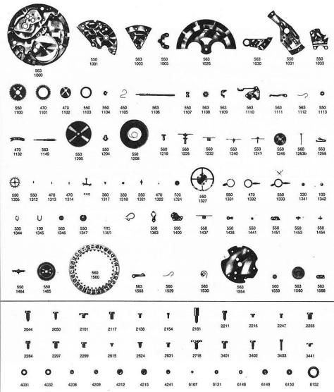 Omega 752 watch parts
