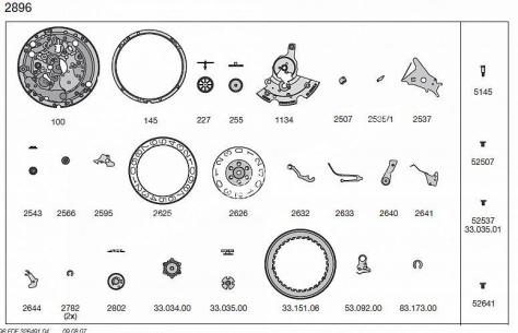 ETA 2896 watch date spare parts