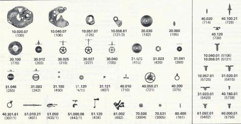 FHF Font 100.101 M8 ST watch spare parts