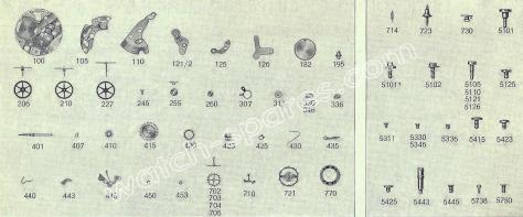 FHF Font 57 watch spare parts