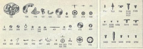 FHF Font 60 N watch spare parts