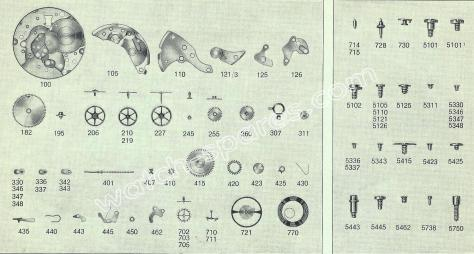 FHF Font 665.9 watch spare parts