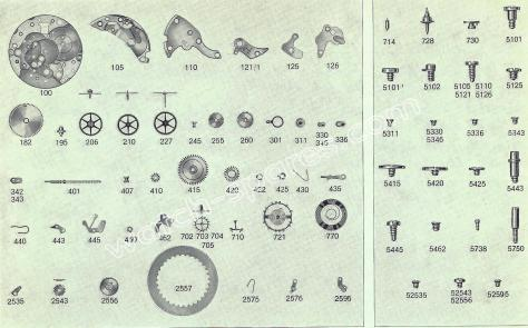 FHF Font 675.4 watch spare parts