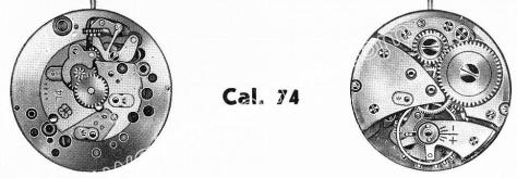 FHF Font 74 watch movements