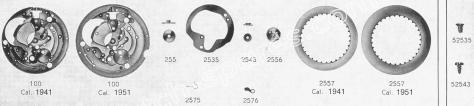 Standard ST 1951 watch date spare parts