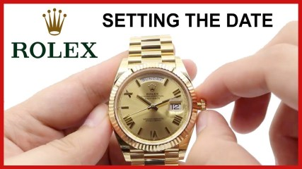 HOW to set Rolex Day-Date Watches: Change the Time, Date & Day