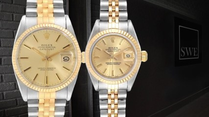 Rolex Datejust 16013 & Rolex Lady Datejust 69173 Steel Yellow Gold Watches His Hers | SwissWatchExpo