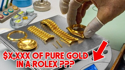 """How much Gold is ACTUALLY in a """"Solid Gold"""" Rolex?"""