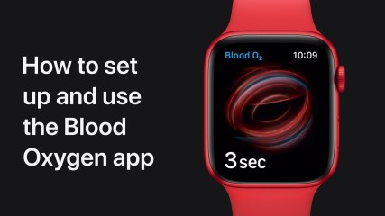 How to set up and use the Blood Oxygen app on Apple Watch — Apple Support