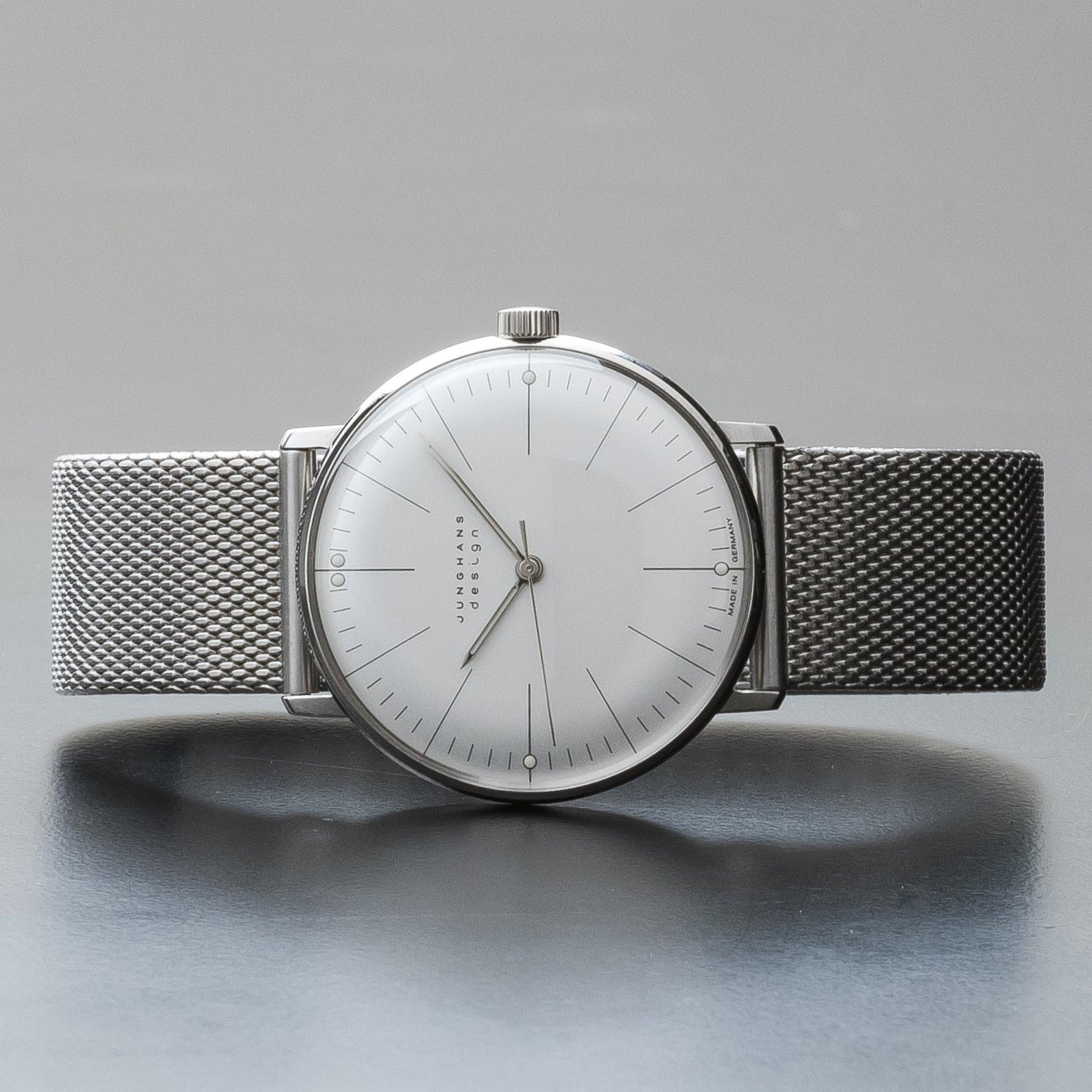 Junghans Max Bill Hand Winding Mechanical Matte Silver Dial Watch 027/3004.44