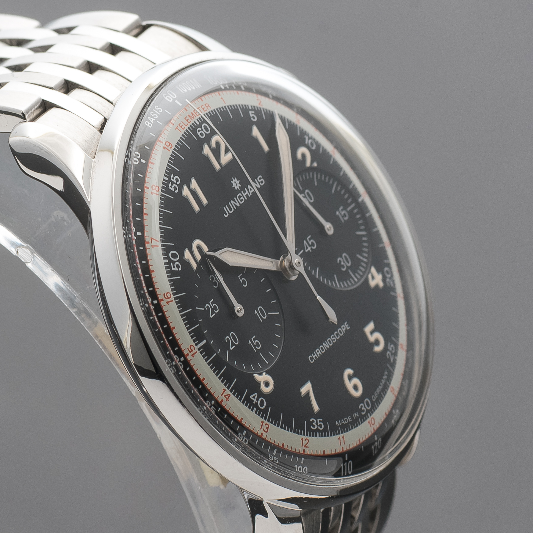 Junghans Meister Telemeter Automatic Chronograph Black Dial Numerals 027/3381.44